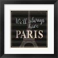 Framed Always Paris Dots