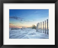 Framed Fenced Sunset