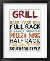 Grill Board Framed Print