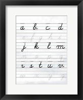 A to Z Penmanship Framed Print
