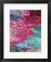 Third Dimensional Color Drift Framed Print