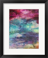 Fifth Dimensional Color Drift Framed Print
