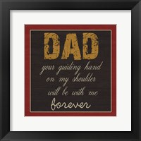 Dear DaD Framed Print