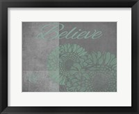 Framed Floral Believe 5