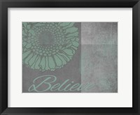 Framed Floral Believe 6
