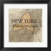New York Story Framed Print