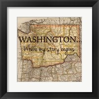Story Washington Framed Print