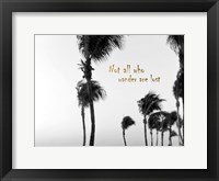 Framed Wandering Golden Palms