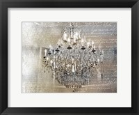 Framed Silver Gold Chandelier