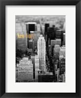 Framed Gold NY Fifth Ave