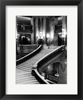 Framed BW Grand Stairs