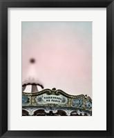 Framed Pink Paris Carousel