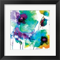 Color Flowers Framed Print