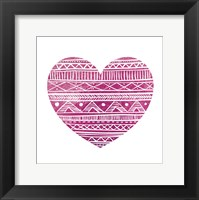 Tribal Heart 2 Framed Print