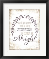 Alright Framed Print