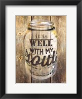 It is Well With My Soul Framed Print