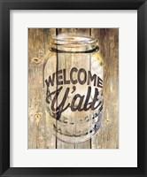 Framed Welcome Ya'll