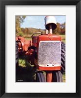 Framed Antique Tractor
