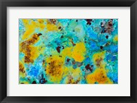 Framed Blue Chrysocolla Jasper