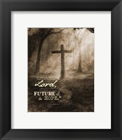 Framed Jeremiah 29:11 For I know the Plans I have for You (Sepia Cross)
