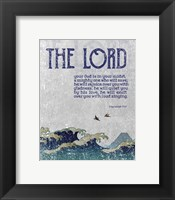 Framed Zephaniah 3:17 The Lord Your God ( Waves)