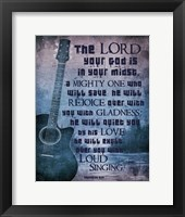 Framed Zephaniah 3:17 The Lord Your God (Guitar)