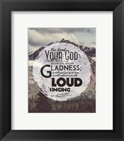 Framed Zephaniah 3:17 The Lord Your God (Mountains 3)
