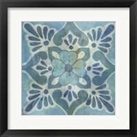 Patinaed Tile VI Framed Print