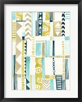 Tribal Patchwork I Framed Print