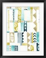 Tribal Patchwork II Framed Print