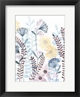 Pastel Posies II Framed Print