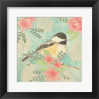 Framed Chickadee Day I