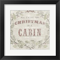 Cabin Christmas IV Framed Print