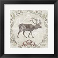 Cabin Christmas V Framed Print