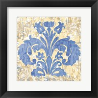 Damask Stamp I Framed Print