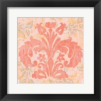 Damask Stamp II Framed Print