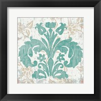 Damask Stamp III Framed Print