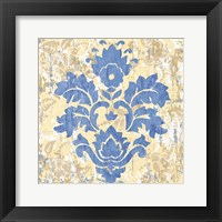 Damask Stamp IV Framed Print