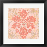 Damask Stamp V Framed Print