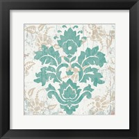 Damask Stamp VI Framed Print
