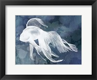 Indigo Fish I Framed Print