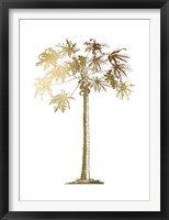 Gold Foil Tropical Palm I- Metallic Foil Framed Print