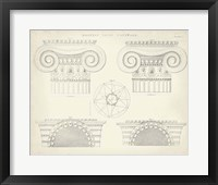 Framed Greek & Roman Architecture VIII