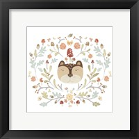 Whimsical Woodland Faces I Framed Print