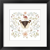Whimsical Woodland Faces II Framed Print