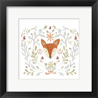 Whimsical Woodland Faces IV Framed Print