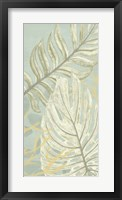 Palm & Coral Panel II Framed Print
