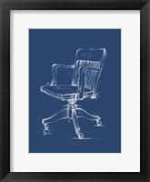 Office Chair Blueprint II Framed Print