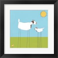 Stick-leg Goat I Framed Print