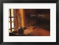 Framed Dear Diary